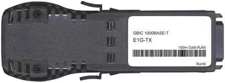 Foundry Compatible 1000Base-T GBIC Copper Transceiver (E1G-TX)