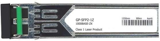 Force10 Compatible 1000Base-ZX SFP Transceiver (GP-SFP2-1Z)